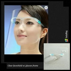 Clear face shield w/ glasses frame snap on